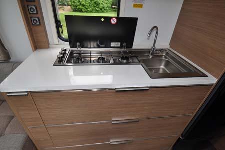 2014 Adria Adora Seine kitchenette