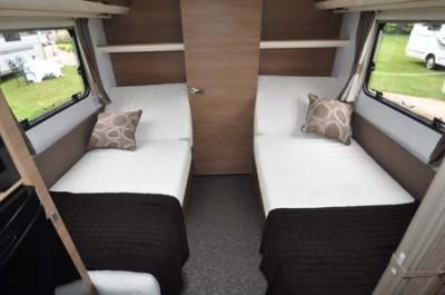 2014 Adria Adora Seine twin caravan beds