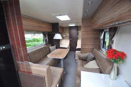Adria Astella Amazon Glam motorhome living area