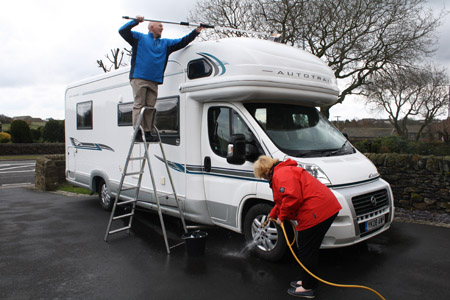 How To Clean A Motorhome Exterior Caravan Guard Blog