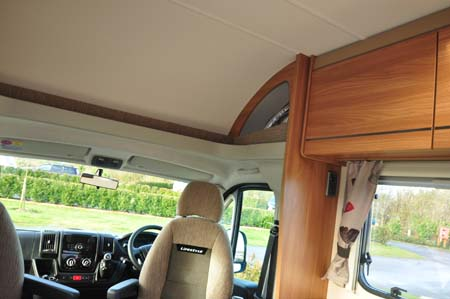 Marquis Lifestyle 664 motorhome cab storage