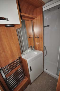 Swift Elegance 580 caravan shower room
