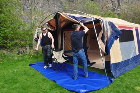 Trigano Galleon Camper set up 5