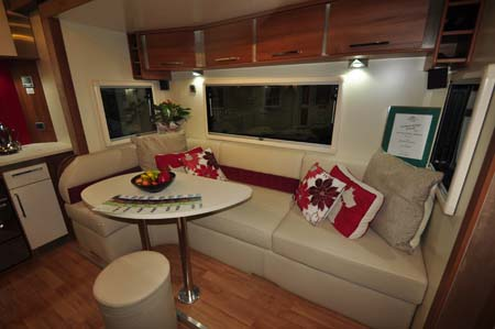 Fifth Wheel Celtic Rambler Dining Area