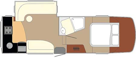 Fifth Wheel Celtic Rambler Floor plan
