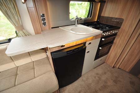 Swift Conqueror 480 Kitchen