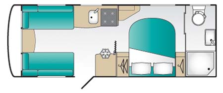 Coachman VIP 575 floor plan