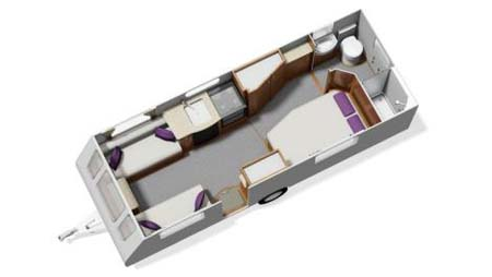 Elddis Affinity 540 Floor Plan