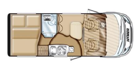 Hymer Exsisi 414 floor plan
