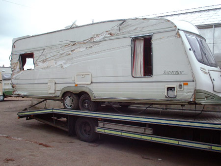 The most accident prone part of a caravan revealed!