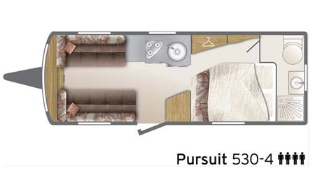 Bailey Pursuit 530-4 - floor plan