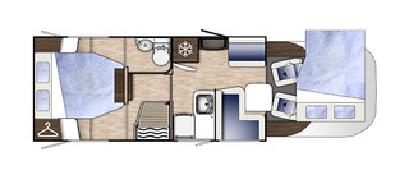Benimar Mileo 294 floor plan