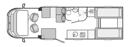 Swift Kon-Tiki 635 Floorplan