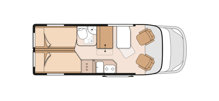 Knaus BoxLife 630 ME floor plan
