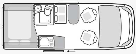 Weinsberg Carabus 541 MQ Floor Plan