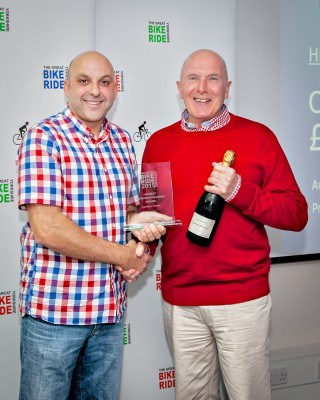 Peter Wilby receives GYBR team award
