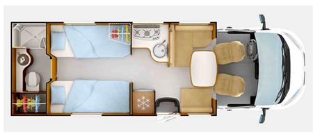 Rapido 665 Floor Plan