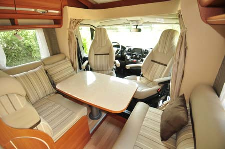Rapido 665 Motorhome Lounge Seating
