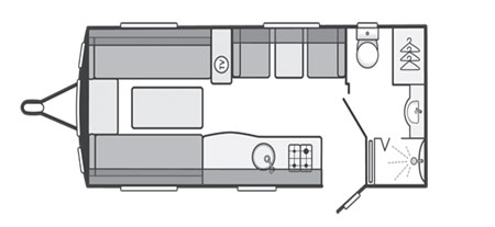 Swift Challenger 530 floorplan