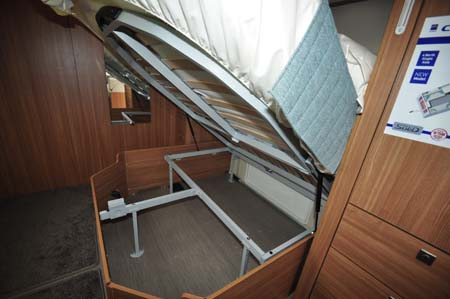 Coachman Laser 650 Under bed storage