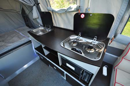 Opus Trailer Tent Kitchen