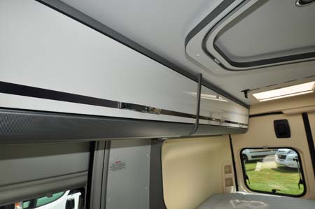 Adria Twin 540 Over head storage