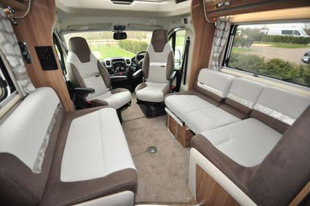 Swift Bolero 744 Interior seating