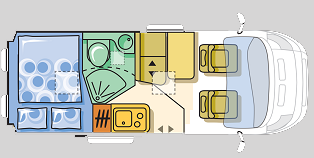 Adria Twin 540 Floor Plan