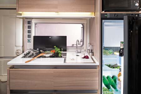 Adria Altea 552 DT  Kitchen