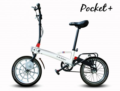 Pocket plus LH white electric bike