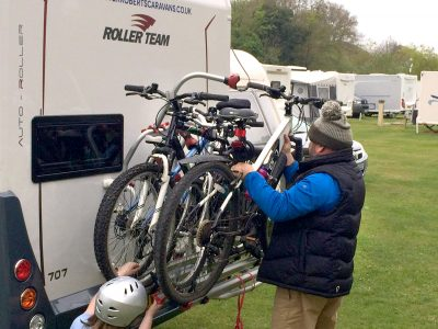 Bikes on a motorhome