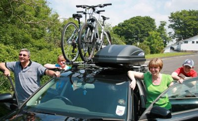 Versatility of a roof box when caravanning