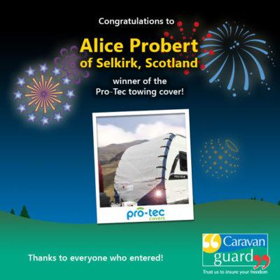 Protec caravan towing cover winner