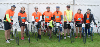 Caravan Guard's Great Yorkshire Bike Ride team