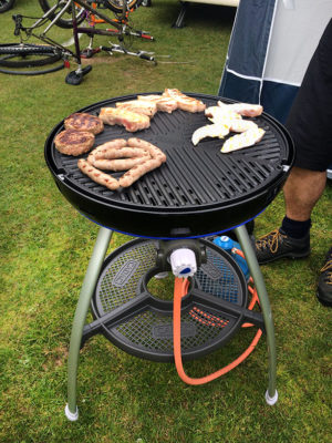 motorhome trip barbecue