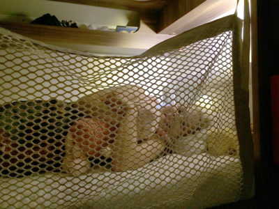 motorhome bunk bed with safety net