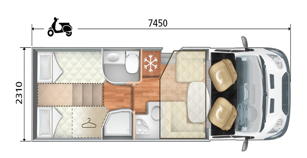 Roller Team Zefiro 685 floor plan