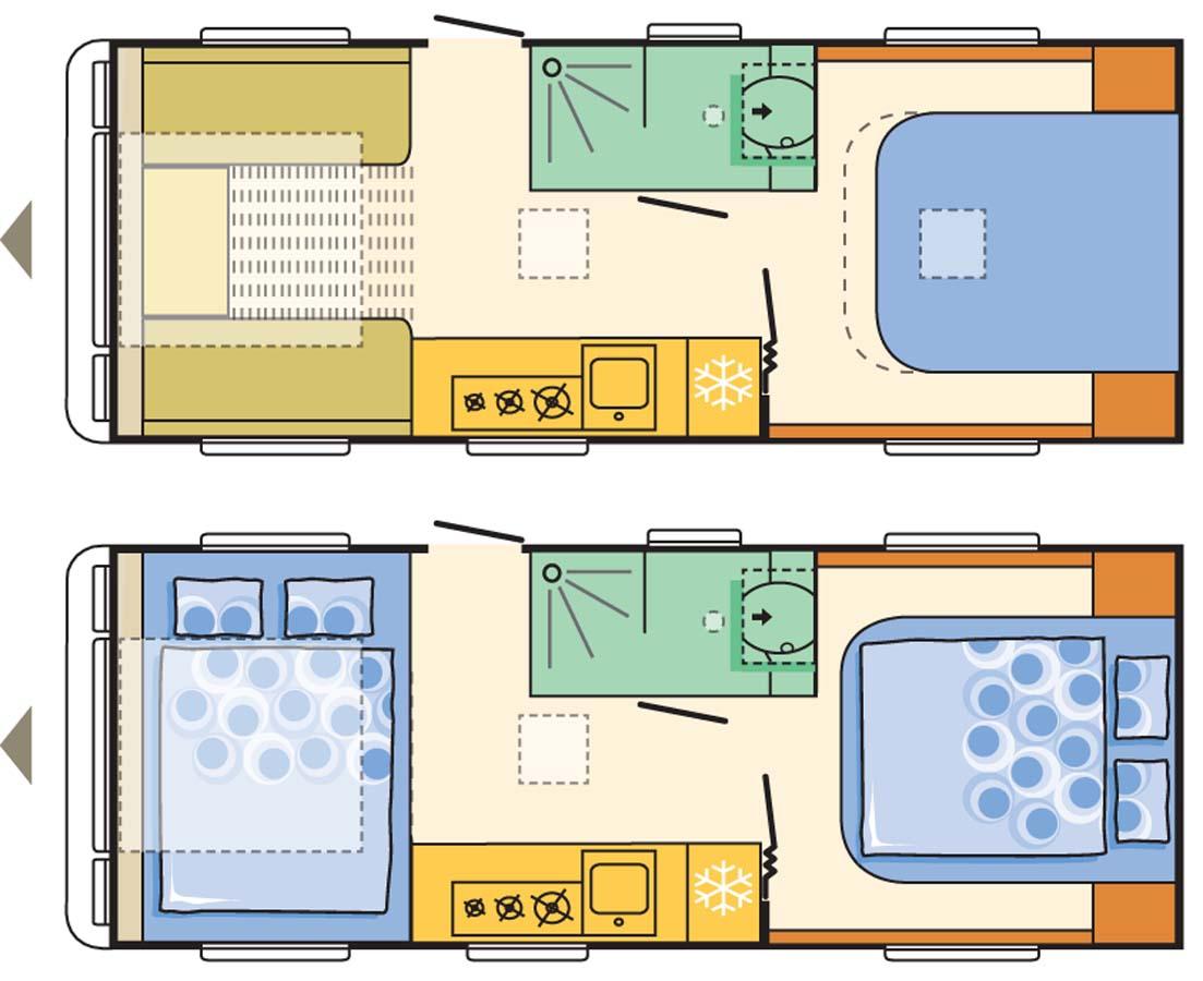 Adria Alpina Missouri Caravan Floor Plan