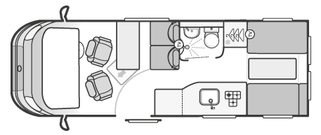 Autocruise Select 184 Floor Plan