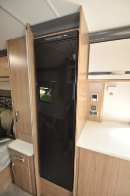 Coachman Laser 675 fridge