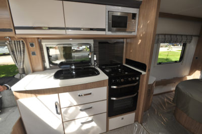 Coachman Laser 675 kitchen