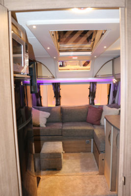 Lunar Alaria RI Caravan interior looking forward