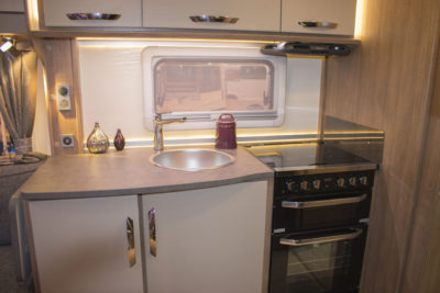 Lunar Alaria RI Caravan kitchen