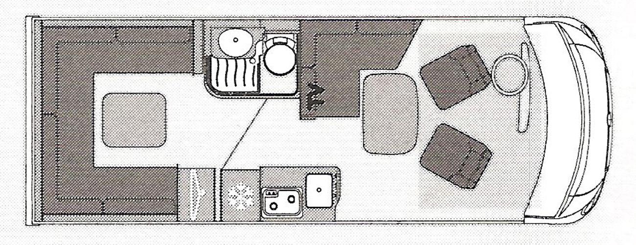 Pilote Galaxy 650U Sensation floor plan