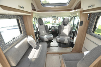 Swift Escape 664 Motorhome Interior looking forward