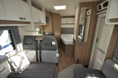 Swift Escape 664 Motorhome Interior looking back