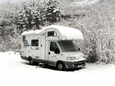 Winter touring in motorhome