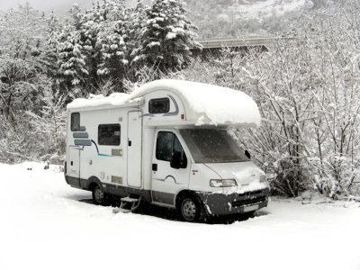 Winter touring in motorhome