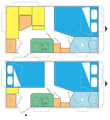 Caravelair Antares 420 Floor Plan