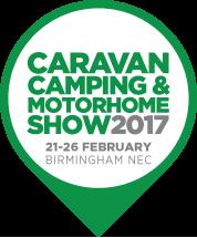 Caravan, Camping and motorhome show 2017 logo